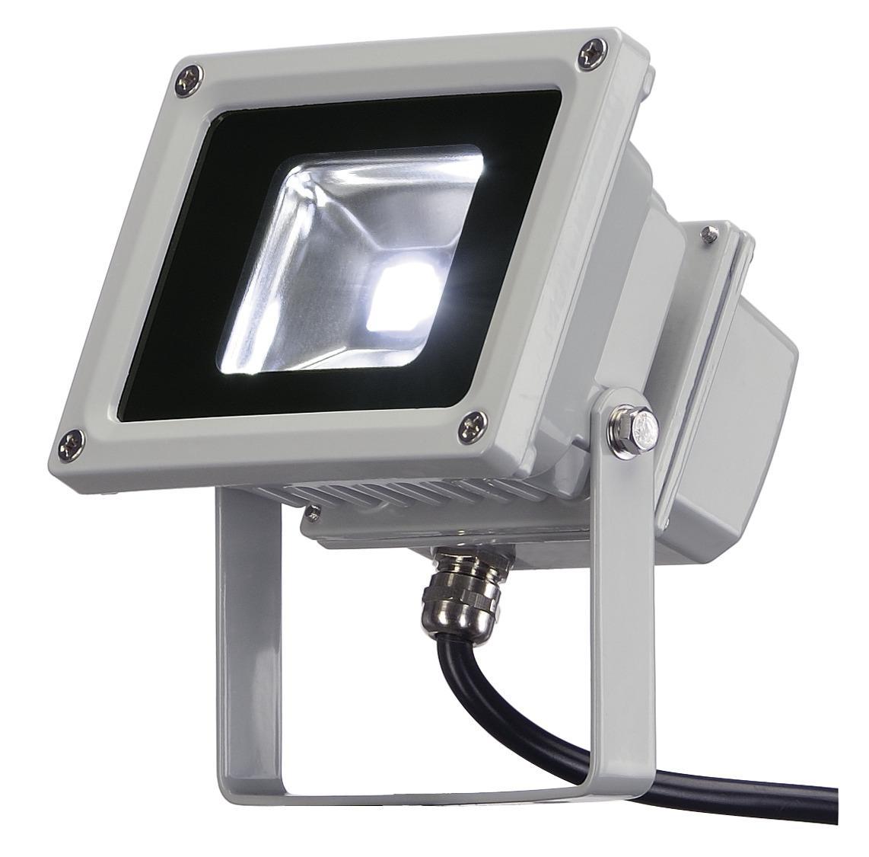 LED OUTDOOR BEAM 10W zilvergrijs 1xLED 5700K